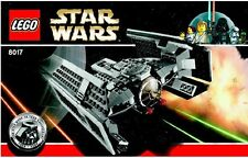 LEGO Star Wars Darth Vader Tie Fighter 8017 minifigura 100% GARANZIA COMPLETA