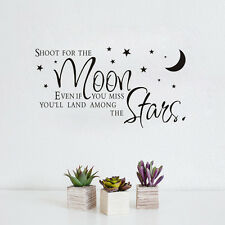 Wall Sticker Shoot For The Moon Star Quote Home Decal Kids Room Decoration Mural