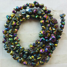 Q0014984 Titanium crystal Agate Druzy Quartz Geode stone loose bead 15 inch