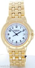 Raymond Weil Men's 5560 Elegant White Date Dial Gold-tone Stainless Steel Watch