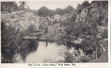 The Lake Benvenuto TOD INLET Vancouver Island BC Canada Trio Real Photo Postcard