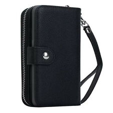 Luxury PU Leather Purse Zipper Wallet Case Card Cash Holder For Samsung S7 edge