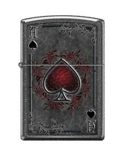 Zippo 0604 Ace of Spades Ironstone Finish Full Size Lighter