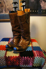 Vintage ACME BOOTS 11.5 D VINTAGE MOTORCYCLE BOOTS 11.5  VINTAGE LEATHER BOOTS