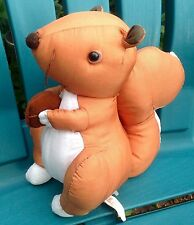"9"" VINTAGE 1994 SANRIO BROWN SQUIRREL NYLON PLUSH STUFFED ANIMAL TOY DOLL FIGURE"