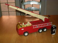 TONKA TOYS - FIRE DEPARTMENT AERIAL LADDER TRUCK, Pressed Steel Metal Toy, Vint.