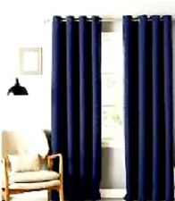2 PANELS DARK NAVY LINED 90% THERMAL BLACKOUT GROMMET WINDOW CURTAIN 55X84 #65