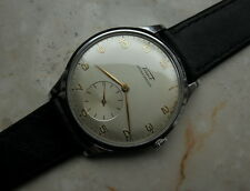 TISSOT ANTIMAGNETIQUE VINTAGE SUB SECOND 1940/50 LARGEST 37MM FLAT SWISS WATCH