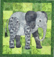ELLINGHAM ELEPHANT Applique Quilt Pattern Wall Hanging Nursery Zoo Animal