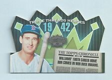 TED WILLIAMS 2006 TRIPLE THREADS TRIPLE CROWN HEROES JERSEY # 9/50 RED SOX