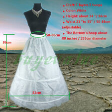 3 hoops1 layer White Petticoat Jupon Underskirt Bridal Wedding Dress Floor price