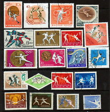 20 All Different Splendid Fencing Stamps