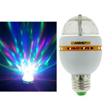 E27 3W Colorful Auto Rotating RGB LED Bulb Stage Light Party Disco Lamp O
