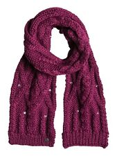 Roxy Shooting Star Knitted Scarf in Magenta Purple ERJAA03052-MRR0