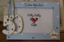 Personalised Photo Frame by Filly Folly! Dad Grandad Uncle 50th Birthday Gift!