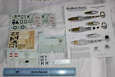 1/48 scale decals. P-38 Lightnings AeroMaster part used bargin