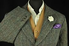"""Vtg Harris Tweed Checked Country Tailored Hacking Jacket 48"""" #642 EXCELLENT"""