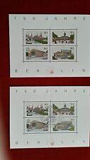 Briefmarken 2 Satz  750 Jahre Berlin postfrisch  + gestempelt