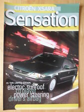 CITROEN Xsara Sensation Limited Edition 1998 UK Market sales brochure