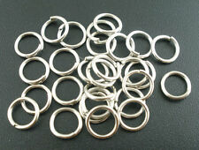 50 pcs Silver tone Open Jump Ring Connector 8x1mm jewelry findings wholesale DIY