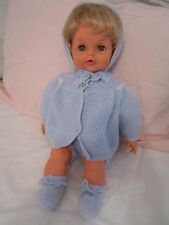 SEBINO BABY GIRL DOLL MADE IN ITALY BLONDE HAIR BLUE EYES VINTAGE! MINT!