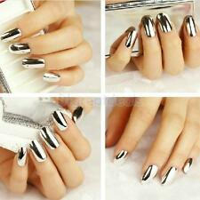 Footful Silver Metallic False Fake Nail Art Tips DIY Fingernails Makeup