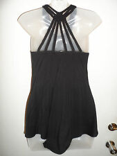 Sky Brand Clothing XS Top Tunic Knit Black Braided Web Back Party Beach Summer