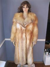 FLUFFY & ELEGANT natural red FOX fur coat MEDIUM jacket