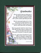 #38 Gift present keepsake poem for a grandmother. 50th 60th 70th 80th birthday
