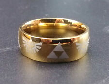 2015 New Legend of Zelda Fans ring Triforce cosplay Gold necklace pendant anime