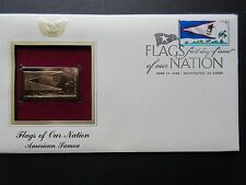 2008 Flags of our Nation American Samoa 22kt Gold GOLDEN Cover Replica Stamp