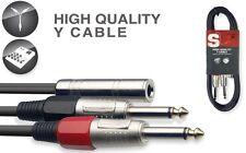 Y-kabel - fr. klinke/2 x m. Klinke 50 cm, A2*