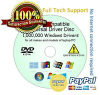 TOSHIBA HP ASUS LG Drivers Update/Restore/Rescue Disc all Windows XP/Vista/7/8