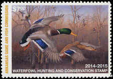 ARKANSAS #34 2014 STATE DUCK  STAMP  MALLARDS by Jim Hautman