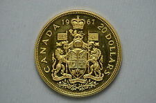 1967 Canadian Proof $20.00 Gold Coin .900 Gold .528 Oz. (1654)