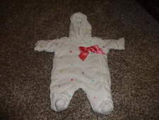 GYMBOREE 0-5 LBS UP TO PREEMIE POLKA DOT SNOWSUIT OUTFIT