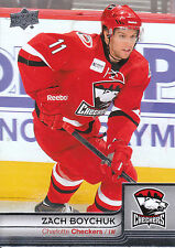 13/14 UPPER DECK AHL #18 ZACH BOYCHUK CHECKERS *4810
