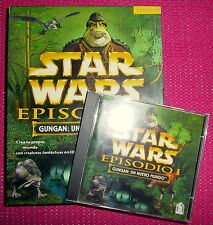 """STAR WARS. EPISODIO I. GUNGAN: UN NUEVO MUNDO"" - Videojuego PC Windows 95/98"