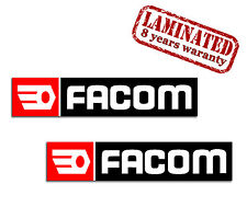 2 Facom Racing Autocollants Auto Moto Vinyle Stickers WRC Rally Sport Voiture