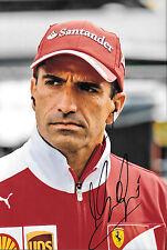 Marc Gene firmado F1 Scuderia Ferrari-Retrato de controladores de prueba