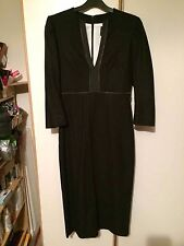 NEW RARE 100% AUTH ALEXANDER MCQUEEN MCQ CATWALK CASHMERE BLACK MIDI DRESS £335