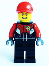 LEGO 60084 City Motorbiker Racing Racer T1 Minifigure NEW + 1 Bike Helmet