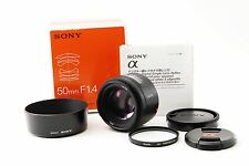 Sony SAL 50mm f/1.4 AF Lens SAL50F14 [Excellent+] w/Box Free Shipping 147302