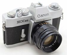 Canon EX EE QL vintage 35mm SLR camera, lens EX 50mm 1: 1.8