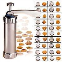 Biscuit Cookie Making Maker Press Pump Machine Cake cutter 20 Moulds Recipe
