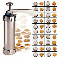 Biscuit Cookie Making Maker Press Pump Machine Cake cutter 20 Moulds Recipe