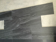 Black Sandstone Look FullBody Matte Porcelain Floor Wall Outdoor Tile 300x600x10