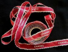 AUTHENTIC RED AND SILVER CHANEL CHRISTMAS RIBBON 2 METER.