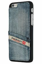 Diesel Pluton Pocket Moulded Snap Case for iPhone 6+ 6s+ Plus Indigo Blue Denim
