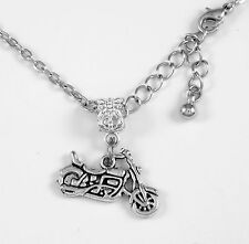 Motorcycle Necklace Biker Gift chain Cycle Present Motorcycle Pendent  V Twin